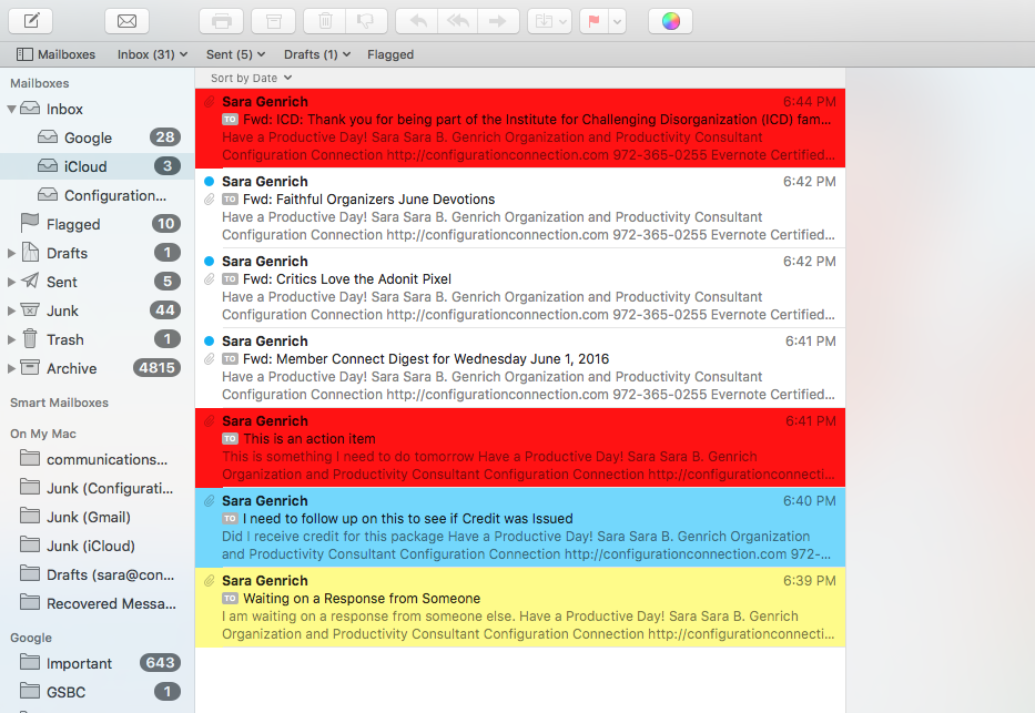 Cut Email Processing Time in Half! 3 Ways Color-Coding Email Increases #Productivity