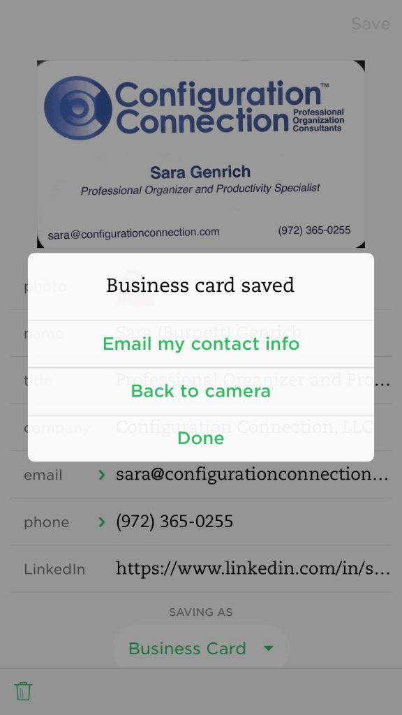 How to organize business cards in evernote how to save cards in evernote reheart Images