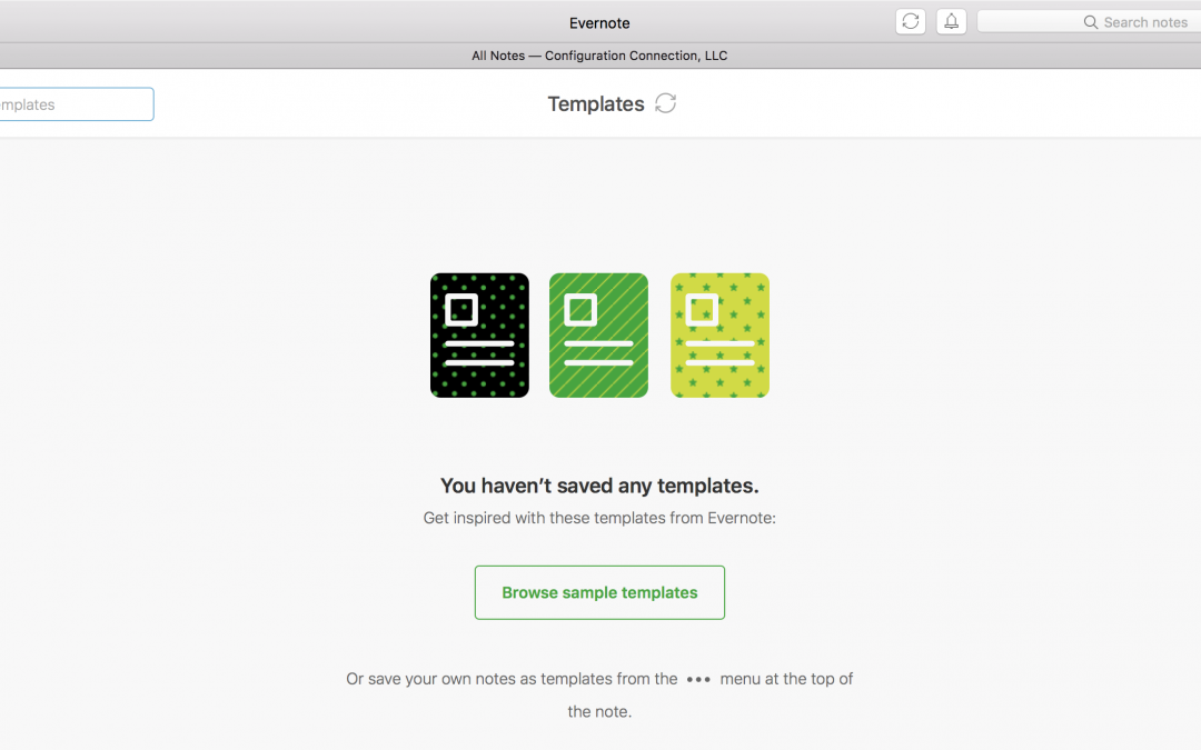 Introducing Evernote's Template Feature